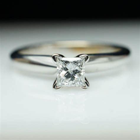 vintage princess cut engagement ring simple