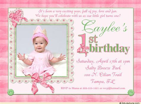 1st year birthday invitation wording 1st birthday invitation wording bagvania free printable