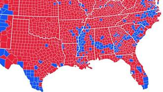 us voting map by county how the cretaceous coastline of america affects us