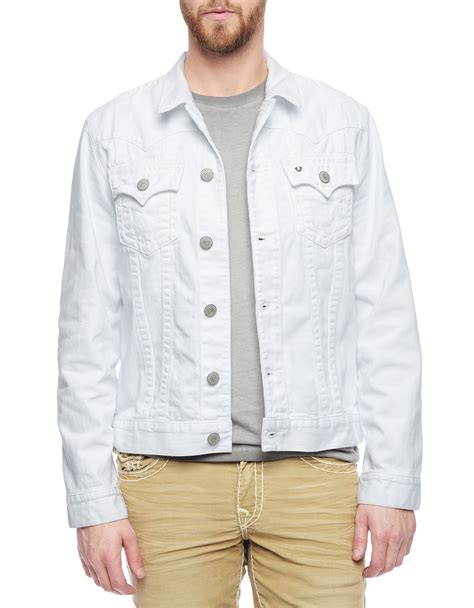 Weekday Single Denim Jacket White true religion jimmy mens white denim jacket in white for