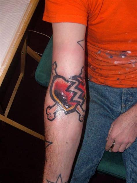 heartbeat tattoo guy heart tattoos for men design ideas for guys
