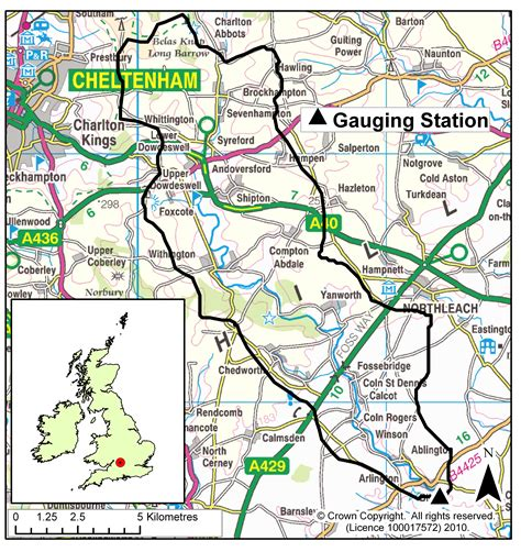 river thames catchment area map site information