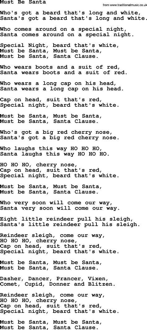 printable lyrics must be santa catholic hymns song must be santa lyrics and pdf