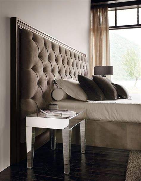 tufted mirrored headboard mirrored night stand tufted headboard inspiration