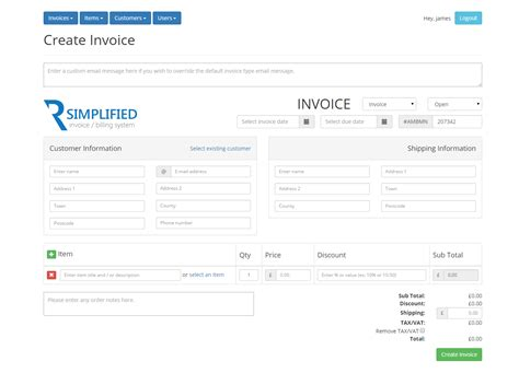 simplified php invoice billing system by hostandname