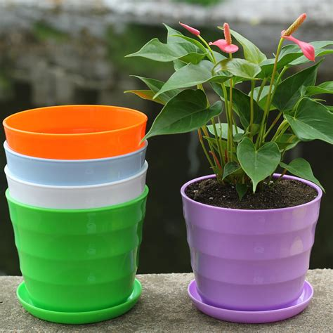 new year flower pot 2016 new flower pot square plastic planter nursery garden