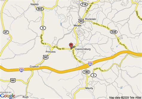 kentucky map ashland map of days inn ashland ashland