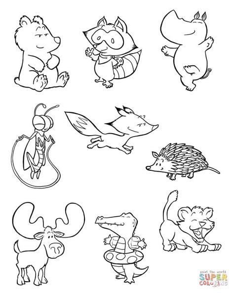 coloring book pages baby animals baby animals 2 coloring page free printable coloring pages