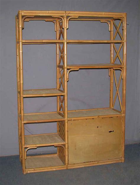 bamboo shelf unit olde things