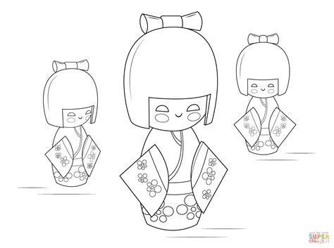 coloring pages kokeshi dolls kokeshi dolls coloring page free printable coloring pages