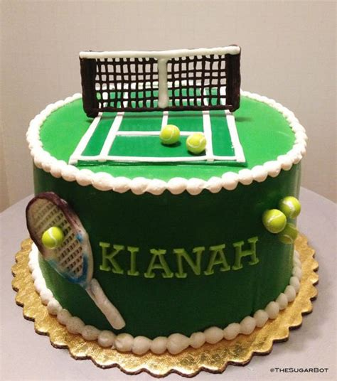 tennis themed cake decorations tennis cake set by thesugarbot on etsy 25 00 tennis
