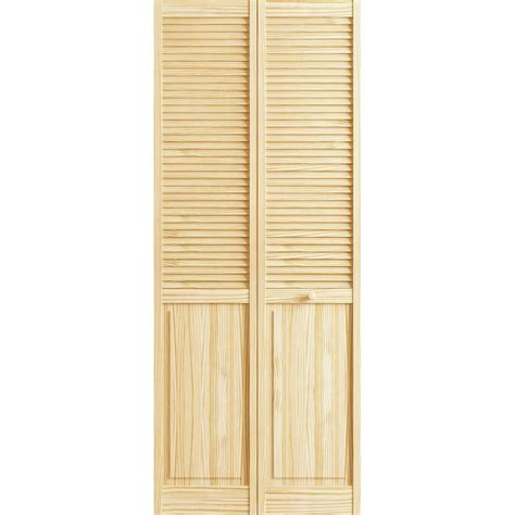 louvered doors home depot interior veranda 24 in x 78 in raw louver panel pine interior