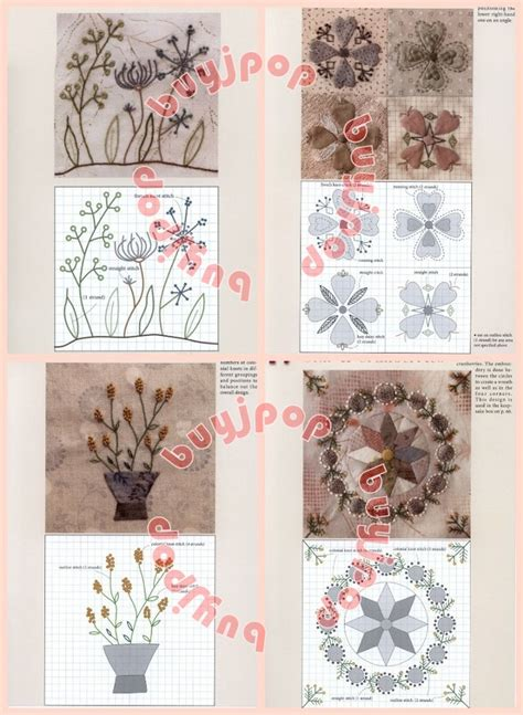 japanese embroidery pattern book english japanese patchwork craft pattern book 120