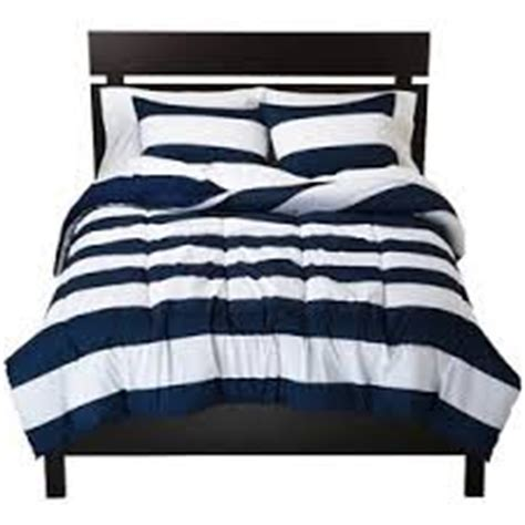 Navy Blue And White Striped Bedding by Rugby Stripe King Navy Blue And White Comforter