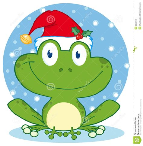 christmas happy frog royalty  stock images image