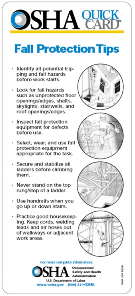 Fall Protection In Construction Oshacademy Free Online Training Fall Protection Template