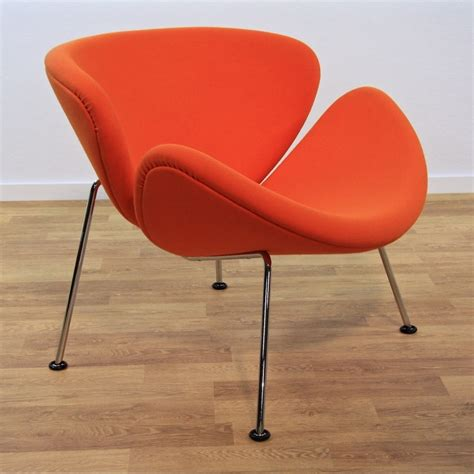 orange chair orange slice f437 lounge chair by pierre paulin for