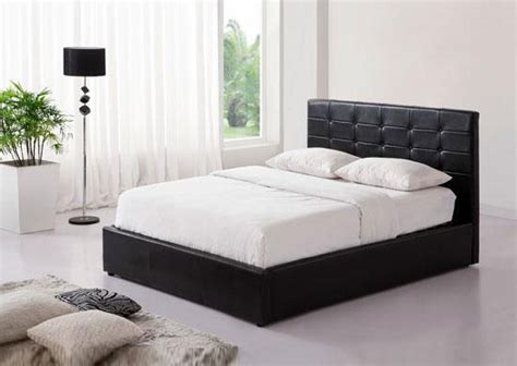 black double ottoman bed black ottoman faux leather double bed with storage