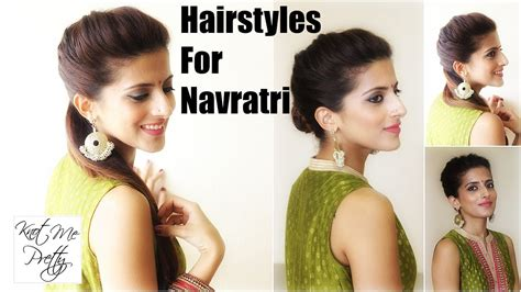simple hairstyles for party in hindi hairstyles for navratri 1 hairstyle 3 easy ways indian