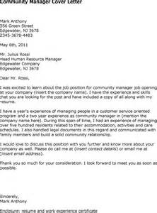 Community Manager Cover Letter by Best Community Manager Cover Letter