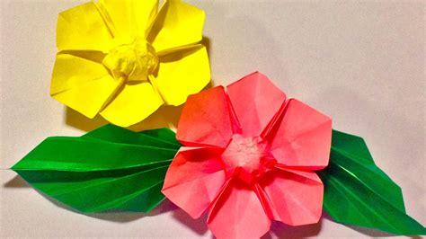 origami hibiscus flower origami flower 折り紙 ハイビスカス doovi
