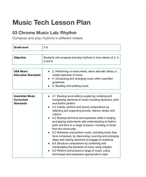 lesson plan examples samples  google docs word pages   examples