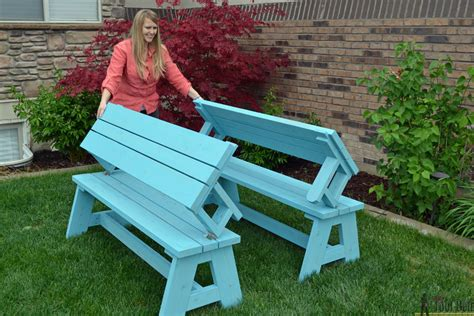 bench converts into picnic table convertible picnic table and bench buildsomething