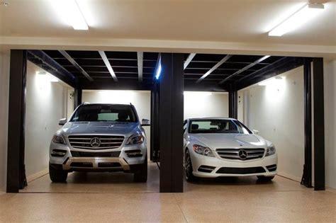 Custom Car Garage by Custom Car Lift In California Garage