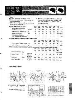 stk xxx datasheet thick film hybrid ic