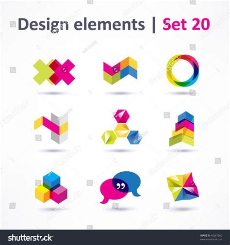 shutterstock design elements and layout vector pack business design elements icon set print stock vector