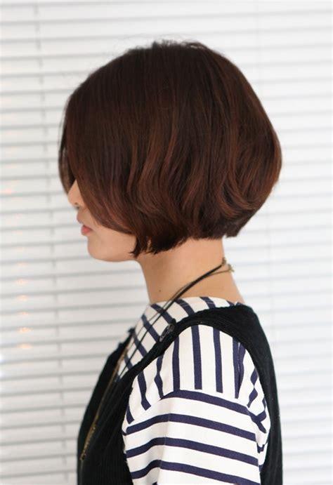 side views short bobs korean hairstyle 2013 pretty center parted bob haircut