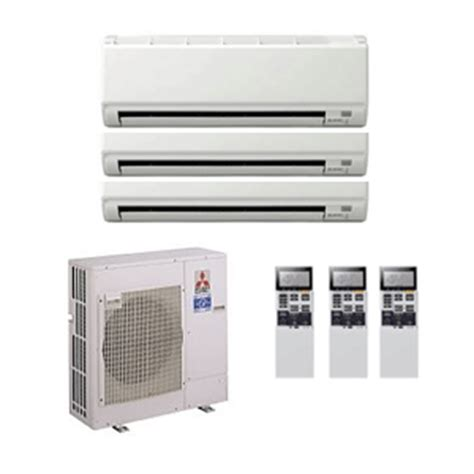 mitsubishi room air conditioners mitsubishi electric air conditioning mxz 4d72va 2 x 3 5 kw 1 x 5 0 kw multi room wall air
