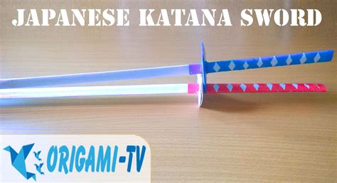 How To Make A Paper Samurai Sword - how to make a paper sword samurai japanese katana sword