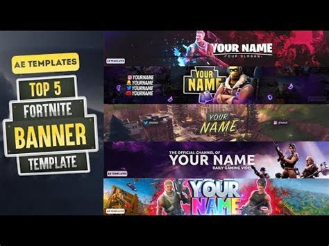Top 5 Fortnite Banner Template Ae Templates Youtube Fortnite Banner Template