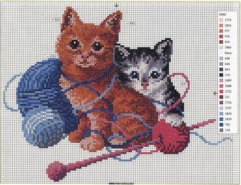 molde de gatos en punto de cruz 3 jpg gato punto de cruz imagui