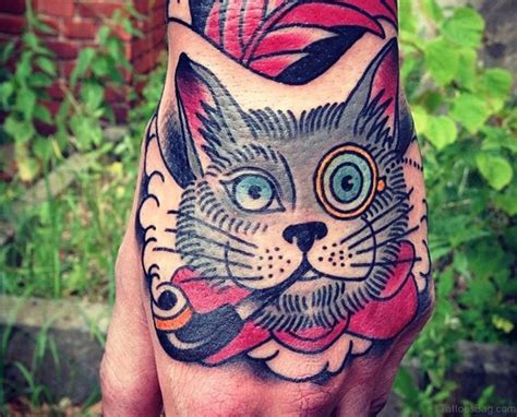 cat tattoo in hand 43 attractive cat tattoo on hand