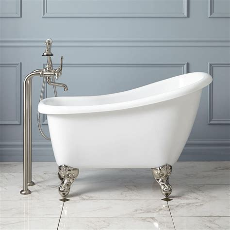 miniature clawfoot bathtub mini bathtub and shower combos for small bathrooms