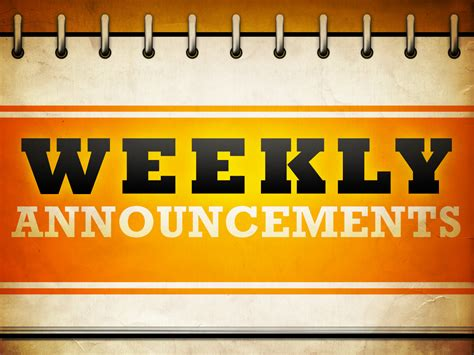 Methodist Recorder Announcements Weekly Announcements 4 10 4 16 St Luke United Methodist