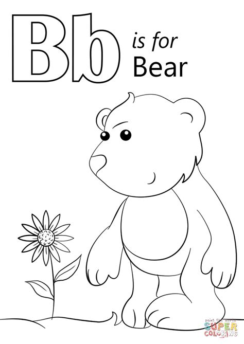 Letter B Coloring Pages by Letter B Is For Coloring Page Free Printable