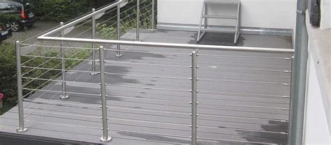 edelstahlgel nder edelstahlgel 228 nder mit glas balkongel nder balkon