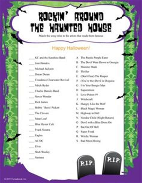 free office for adults trivia quot rockin around the haunted house quot