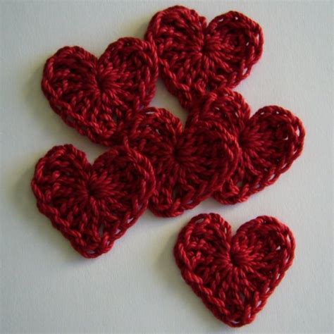 heart pattern in crochet crocheted valentine hearts pattern allcrafts free crafts