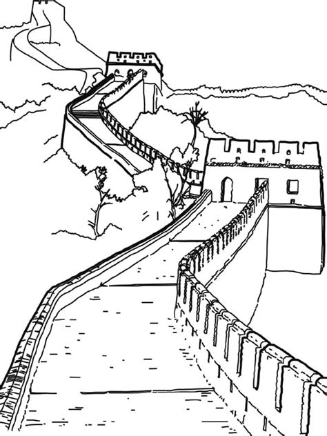 worldwonders great wall china coloring pages batch coloring