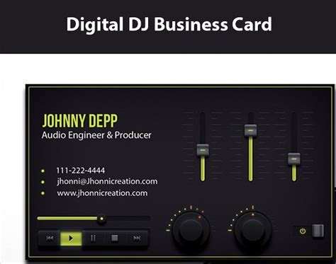 producer business card template 25 dj business cards free free premium templates