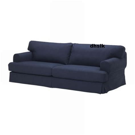 ikea slipcovered sofas ikea hov 197 s hovas sofa slipcover cover kallvik dark blue