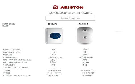 Water Heater Ariston 30 Liter ariston andris 30l storage water heater an30r water