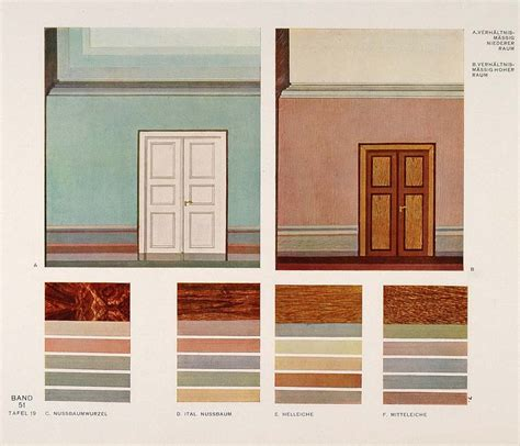1931 deco interior design wall colors room print original ebay