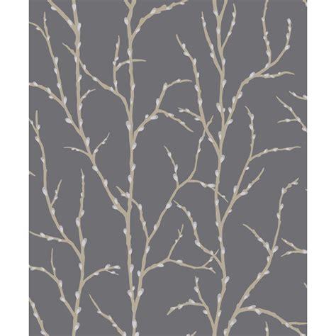 wallpaper grey twigs b m gt rasch allure twigs wallpaper charcoal 298717