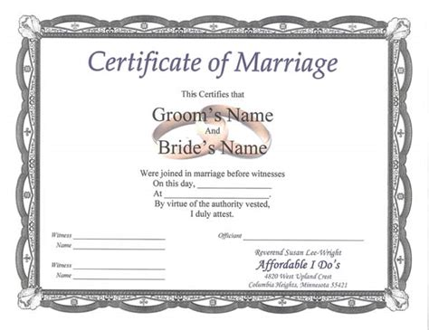 keepsake marriage certificate template sle marriage certificate quotes