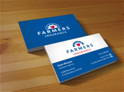 Farmers Insurance Business Card Template by 83 Masculine Business Card Designs Insurance Business